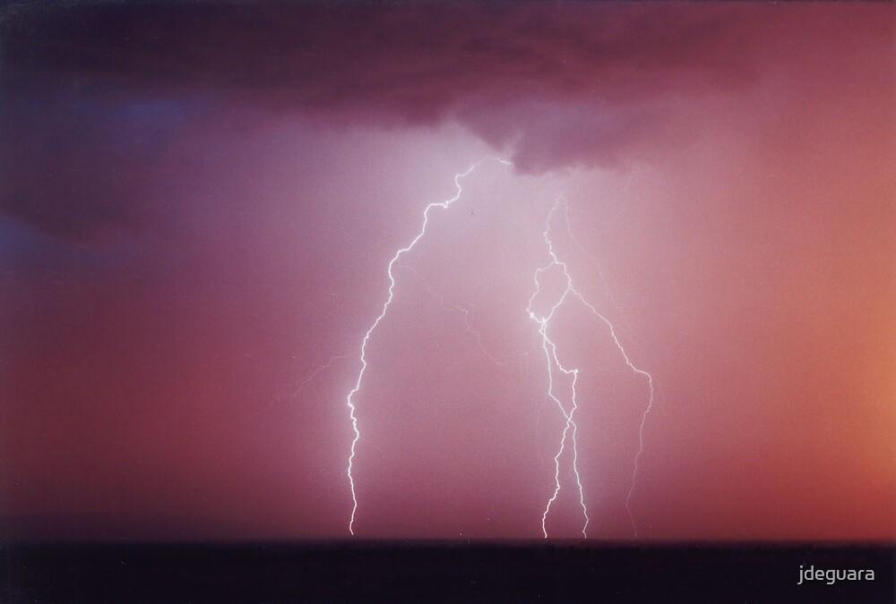 Sunrise lightning Gulgong, NSW Australia by jdeguara