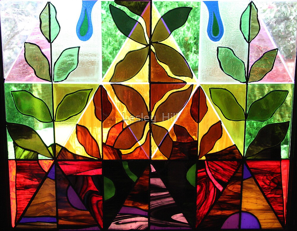 Close up...base of the Butterfly Window! by Lesley  Hill