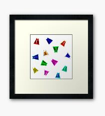 Christmas cats garland for fun Framed Print