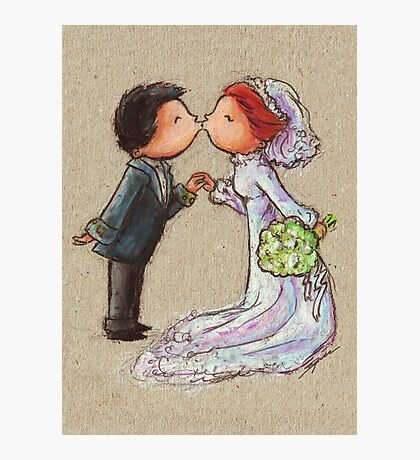 Wedding Kiss Photographic Print