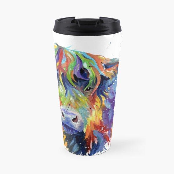 Multicolour Highland Cow Travel Mug