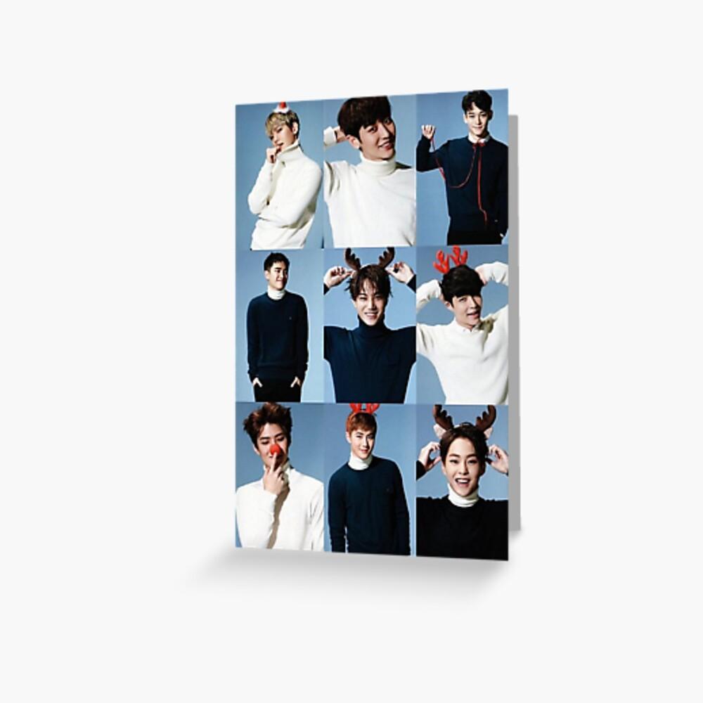 Exo - Weihnachten Grußkarte
