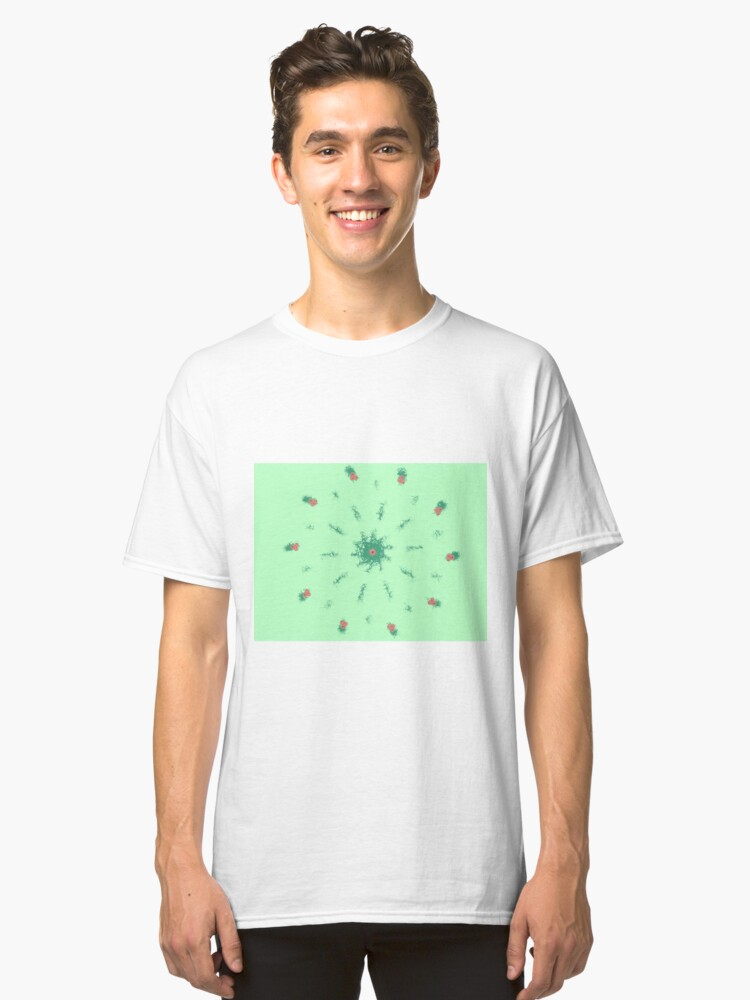 Christmas Holly Berries Classic T-Shirt Front