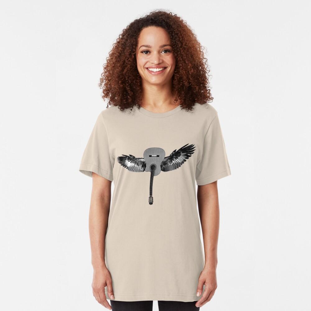 Flying Guitar Slim Fit T-Shirt