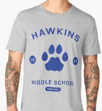 "Stranger Things® - ""Hawkins Middle School"" Original (Blue) Men's Premium T-Shirt"