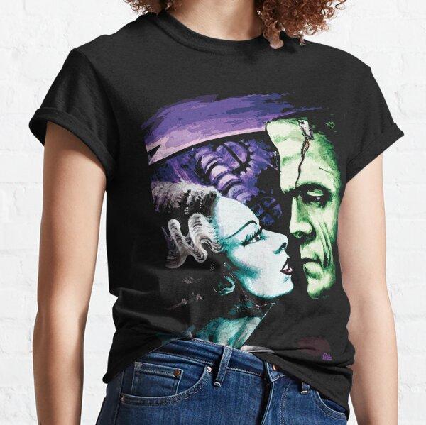 La novia y Frankie Monsters enamorados Camiseta clásica