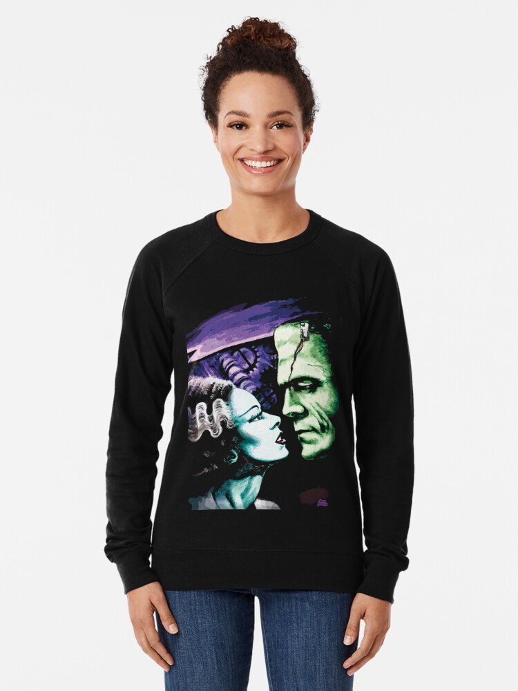 Alternate view of Bride & Frankie Monsters in Love Lightweight Sweatshirt