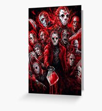 Jason Voorhees (Many faces of) Greeting Card