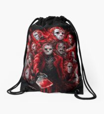 Jason Voorhees (Many faces of) Drawstring Bag
