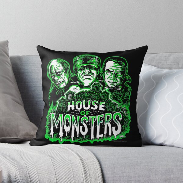 House of Monsters Throw Pillow