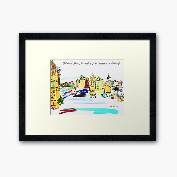 Across the north bridge and Waverley Framed Art Print