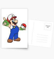 Super Mario x Ash Ketchum Postcards