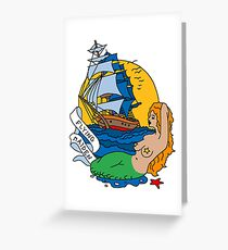 Flying Maiden Greeting Card