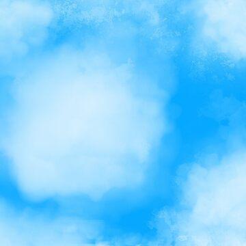 Fluffy white clouds by SundayMornArt
