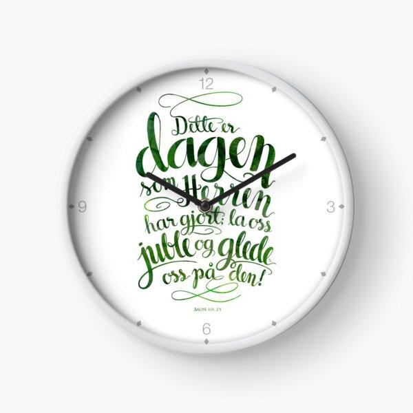 Dette er dagen Clock