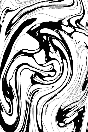 Black White And Graphic Paint Swirl Pattern Effect Photographic