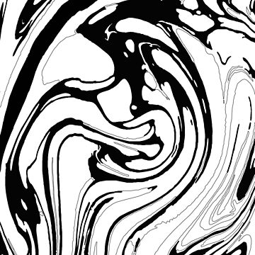 Black, White and Graphic Paint Swirl Pattern Effect by 5mmpaper