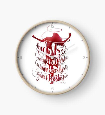 Guds fred som overgår all forstand Clock
