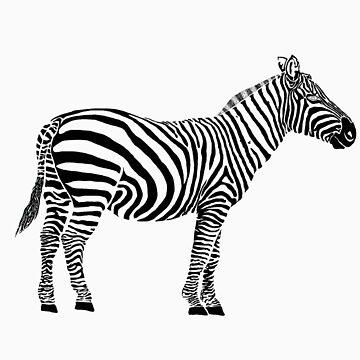 Zebra black stripes only by Greendaves