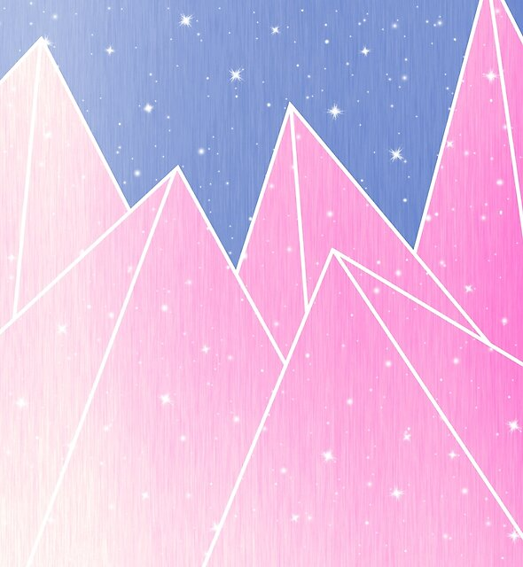 Sparkly Pink Crystals Design by oursunnycdays