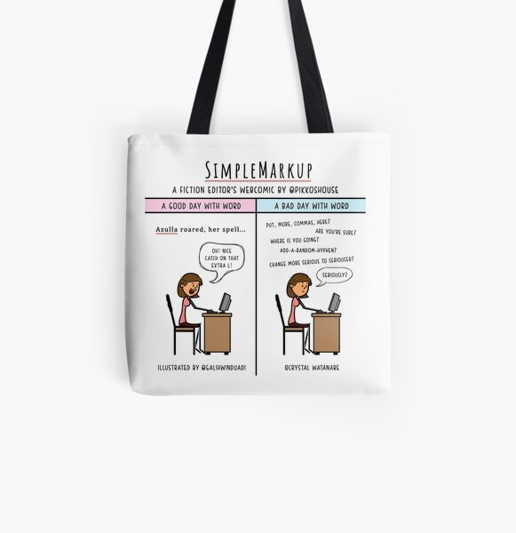 Word to Your Manuscript All Over Print Tote Bag