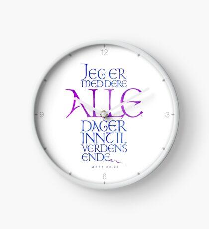 Jeg er med dere alle dager Clock