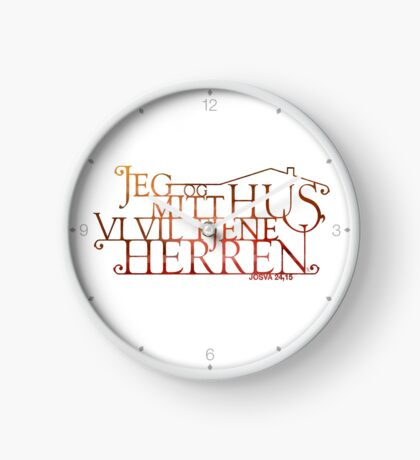 Jeg og mitt hus Clock