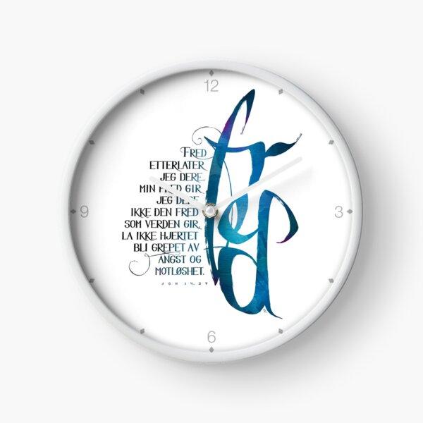 Fred etterlater jeg dere Clock