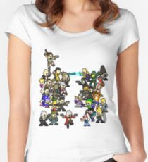 Epic 8 bit Battle! Women's Fitted Scoop T-Shirt