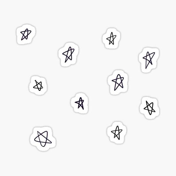 einfaches Stern / Pentagramm-Gekritzelmuster Sticker