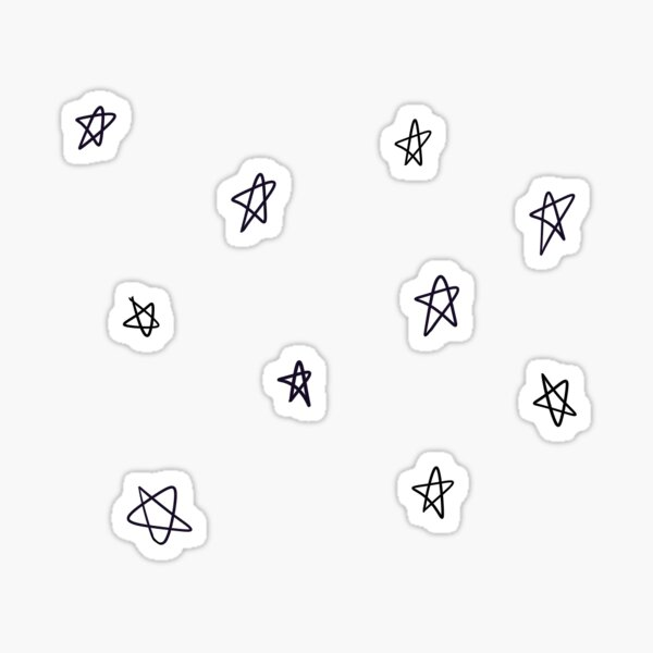 patrón simple de doodle estrella / pentagrama Pegatina