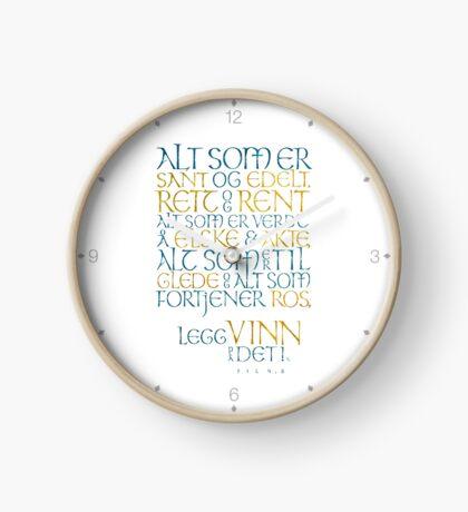 Alt som er sant og edelt Clock