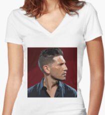 Jon Bernthal 3 Women's Fitted V-Neck T-Shirt