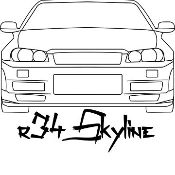 Nissan Skyline R34 GTR - Simple Lines by mudfleap