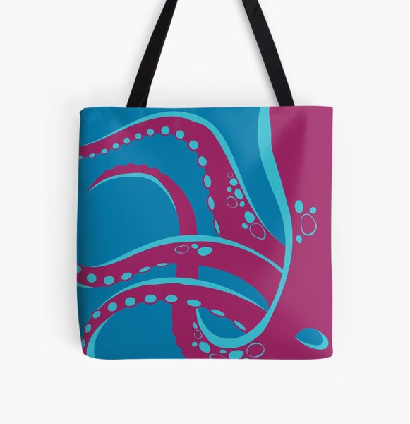 Put An Octopus On It!  (purple and blue) All Over Print Tote Bag
