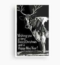 Happy Moo Year! Metal Print