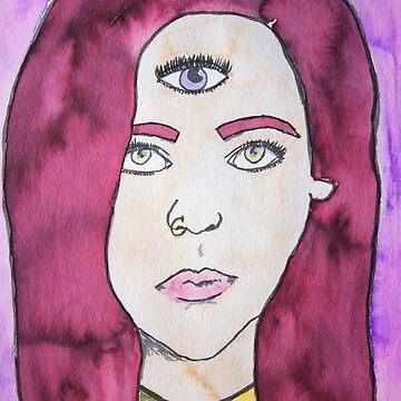 Third Eye Muse by KendraJKantor