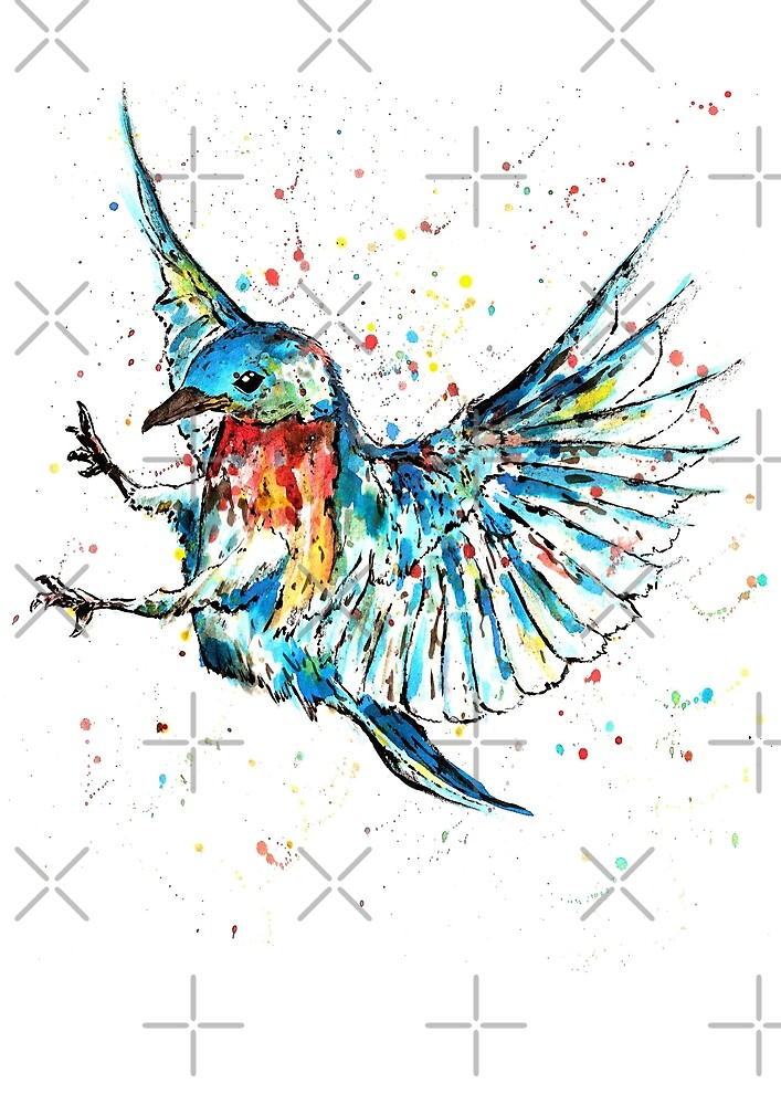Flying Bird by Calum Margetts Illustration