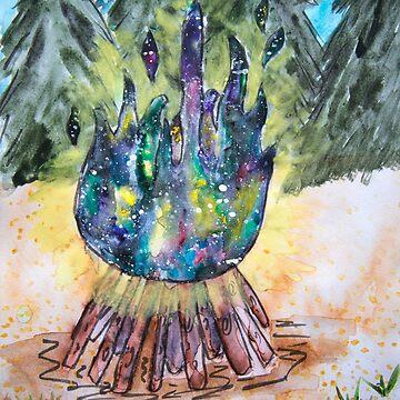Galaxy Bonfire by KendraJKantor
