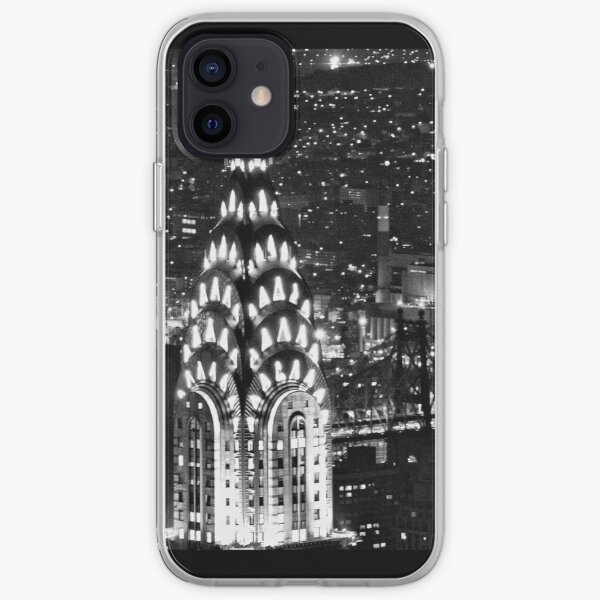 The Chrysler Building at night iPhone Soft Case