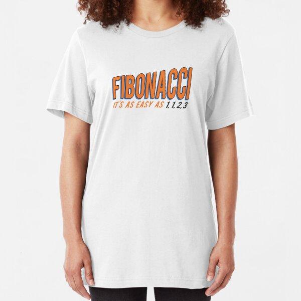 Fibonacci It's as Easy as 1, 1, 2, 3 Slim Fit T-Shirt