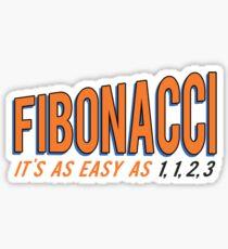 Fibonacci It's as Easy as 1, 1, 2, 3 Sticker