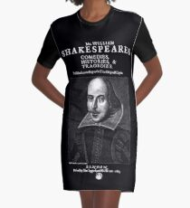 Shakespeare First Folio Frontpiece - Simple White Version Graphic T-Shirt Dress