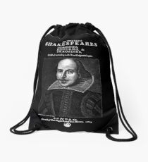 Shakespeare First Folio Frontpiece - Simple White Version Drawstring Bag