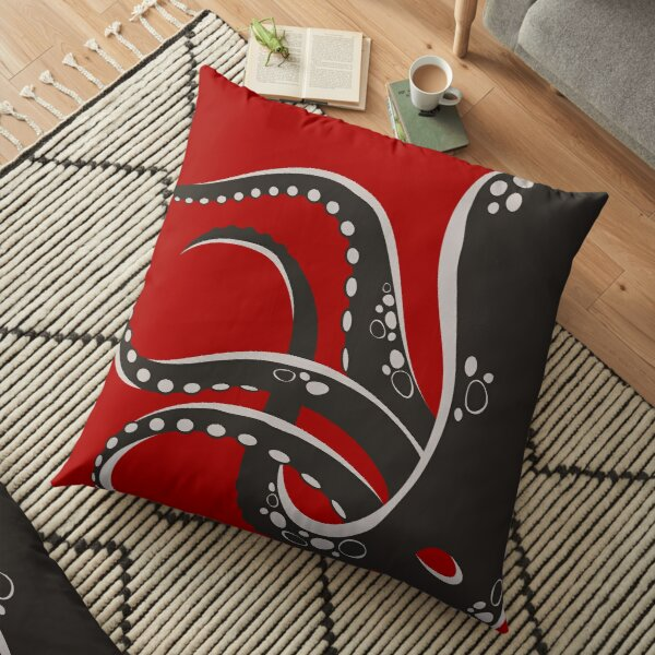 Put An Octopus On It! (grey) Floor Pillow