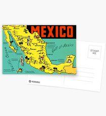 Mexiko Grafik Karte Vintage Travel Decal Postkarten