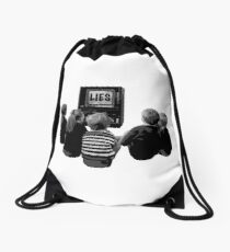 Propaganda Time Drawstring Bag