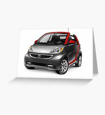 Smart Fortwo Electric Drive Cabriolet electric car art photo print Greeting Card