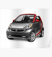 Smart Fortwo Electric Drive Cabriolet electric car art photo print Poster