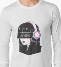 Music! - Sad Japanese Aesthetic Long Sleeve T-Shirt